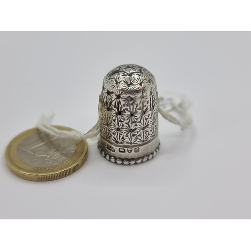 16 - Sterling Silver Thimble.