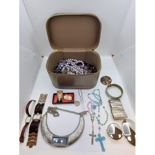 29 - A large selection of costume jewellery as pictured inc Silver items