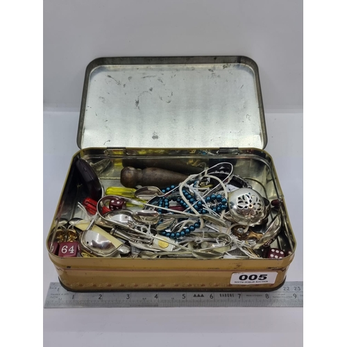 5 - A large collection of collectible items,  with a bone handled pen knife and various other assorted i...
