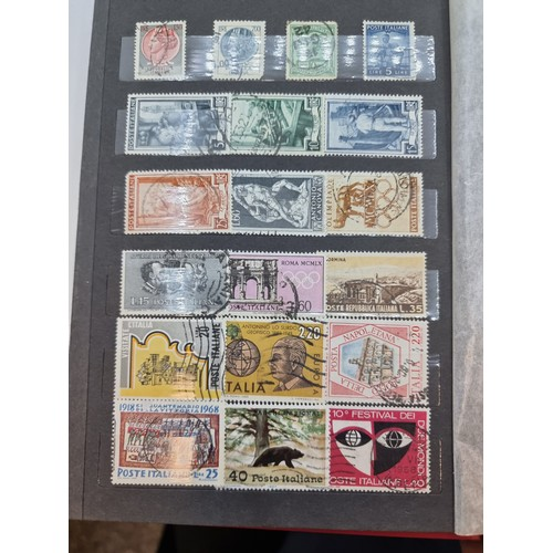 57 - A fully furnished stamp album from a private collection, covering world, European and English stamps...