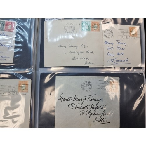 53 - Star Lot: An extremely interesting and rare collection of Irish covers, mostly first day covers, dat...