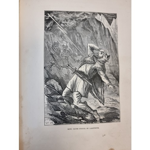 45 - Star Lot : rare book, A History of the Irish Nation 1876, First Edition by M.F Cusack.  A very large...