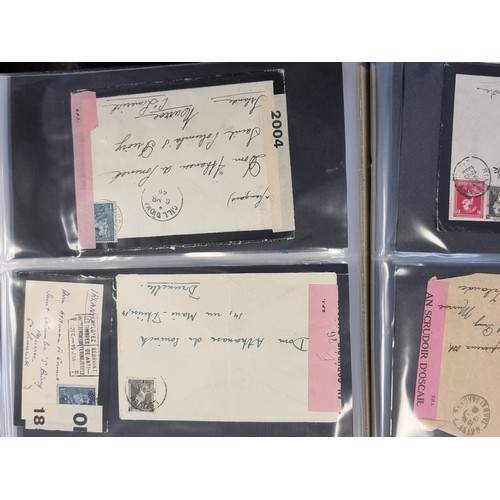 52 - An extremely interesting collection of 53 franked letter envelopes, dating from 1897 through to 1940...