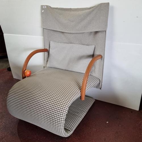 638 - Star Lot : Vintage French Zen Chair By Claude Brisson for Ligne Roset 1980s designer chair. In good ...