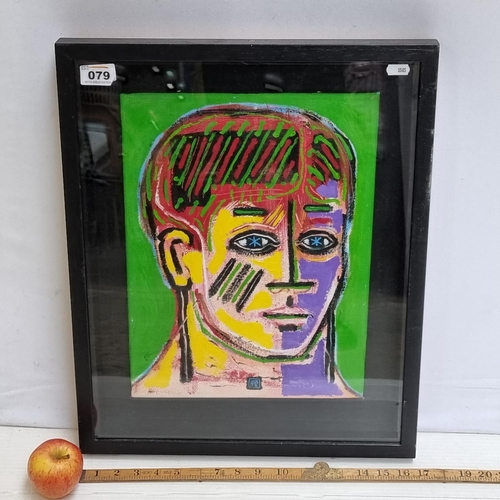79 - Good sized original oil on canvas by Brian Breathnach, 2008, signed verso. Entitled 'Create The Futu...