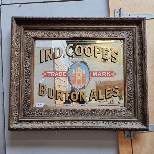 124 - Star lot: 100% original 1920's antique Burton Ales pub mirror.
