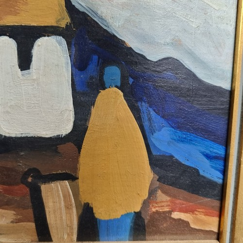 111 - Star lot: Genuine large original Markey Robinson (1918-1999) oil on board painting in his iconic sty...