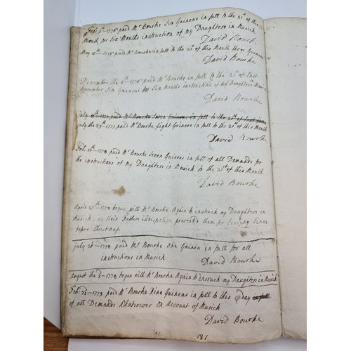 41 - Star Lot : A rare unique very interesting ledger used at Cork Beg Harbour. For the listing of animal...