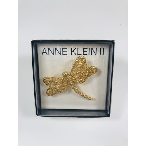 32 - Anne Klein dragonfly brooch, Murano bracelet and earrings,  all new....