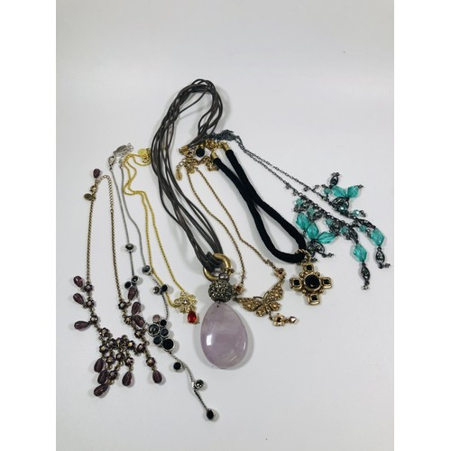 53 - Lot of designer named necklaces , all good to re sell.