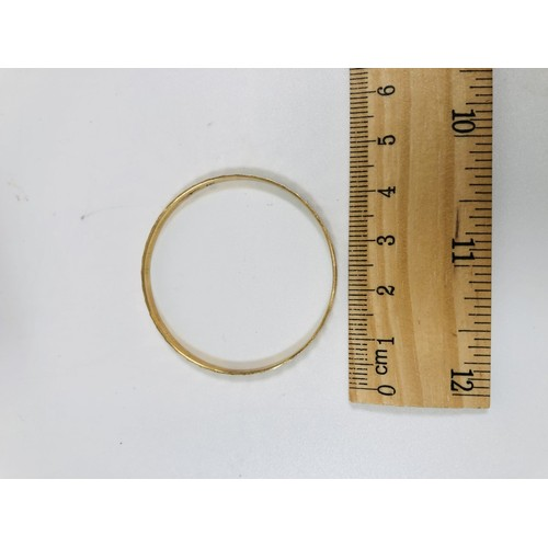 14 - Vintage child`s gold bangle. 3.5gr