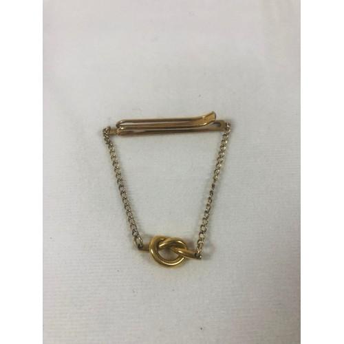 7 - Vintage Kreisler knot tie clip. Knot tests as gold 7.35gr....