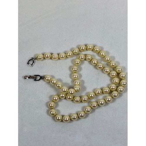 15 - Christian Dior pearl necklace, in display box. 44cms.