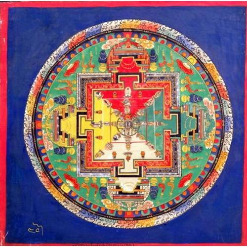 1 - MANDALA - TIBET - 20th CENTURY Gouache on cotton canvas...