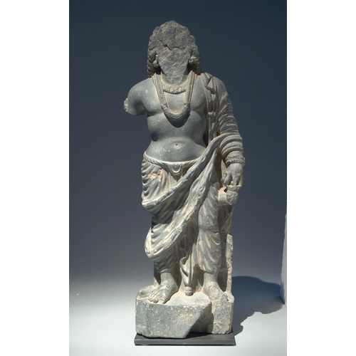 10 - MAITREYA - ART OF GANDHARA - 3rd CENTURY Schist...