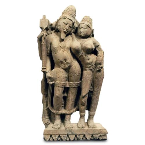 13 - AGNI AND SVAHA - INDIA - 10th CENTURY Sandstone...