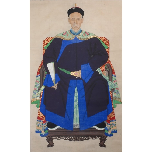 2 - PORTRAIT OF A GENTLEMAN - CHINA - 19th CENTURY Gouache on paper...