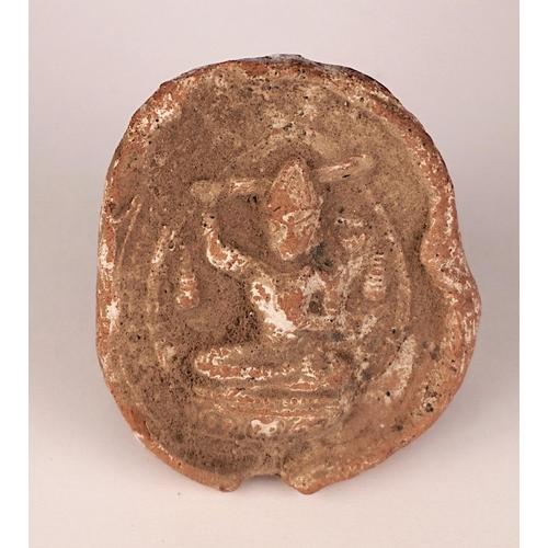 20 - TSHA-TSHA - TIBET - 18th-19th CENTURY Terracotta Tsha-Tsha  figurine - Bodhisattva Manjusri - Tibet ...