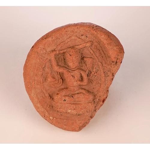 22 - TSHA-TSHA - TIBET - 18th-19th CENTURY Terracotta Tsha-Tsha  figurine - Bodhisattva Manjusri - Tibet ...