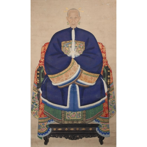 3 - PORTRAIT OF A LADY - CHINA - 19th CENTURY Gouache on paper...