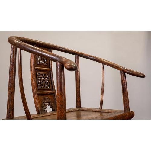38 - ARMCHAIR (PAIR) - CHINA, SHANXÌ PROVINCE - 18th CENTURY Exceptional horseshoe armchair (pair) -  Qui...