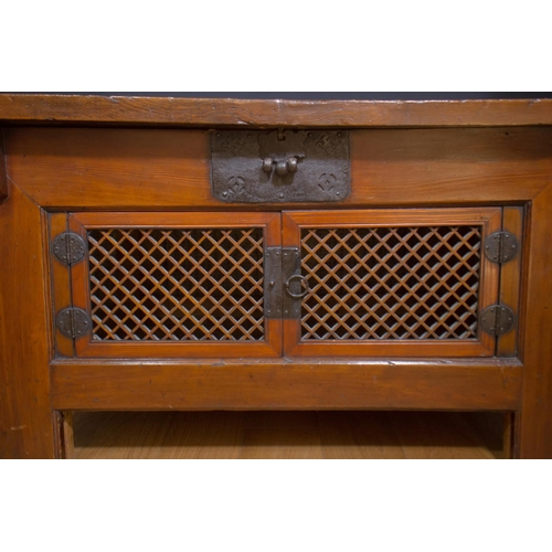 50 - RICE CABINET - KOREA - LATE 19th CENTURY Cabinet to store up rice and other foods - Korea - lacquere...