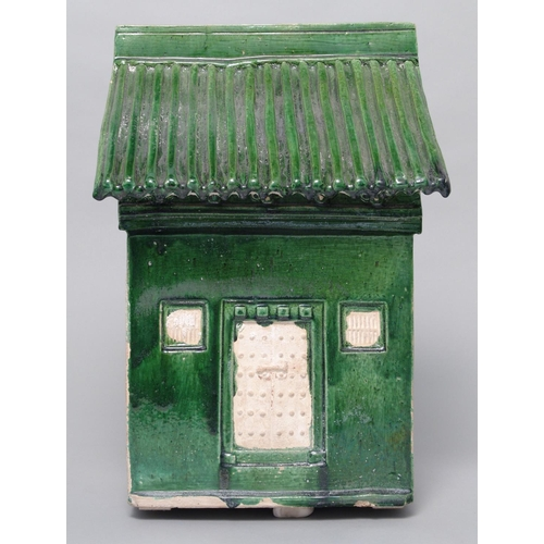 7 - HOUSE WITH ROOF - CHINA, MING DYNASTY - 15th/16th CENTURY Glazed pottery...