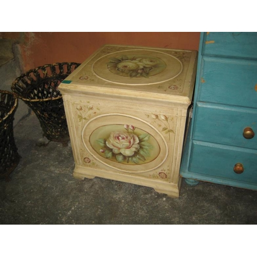 4 - Painted Ottoman...