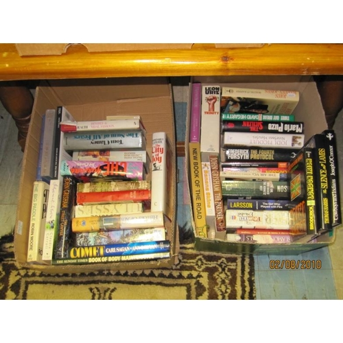 25 - 3 Boxes of mainly Modern Hardback Fiction...