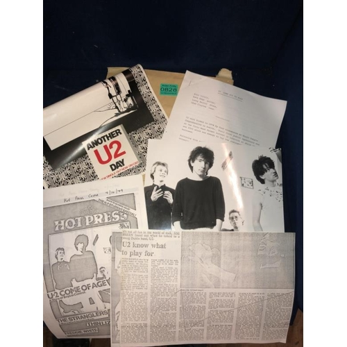 828 - Collection of Original U2 Ephemera following the First Talent Show Win in the Stella Ballroom, Limer...