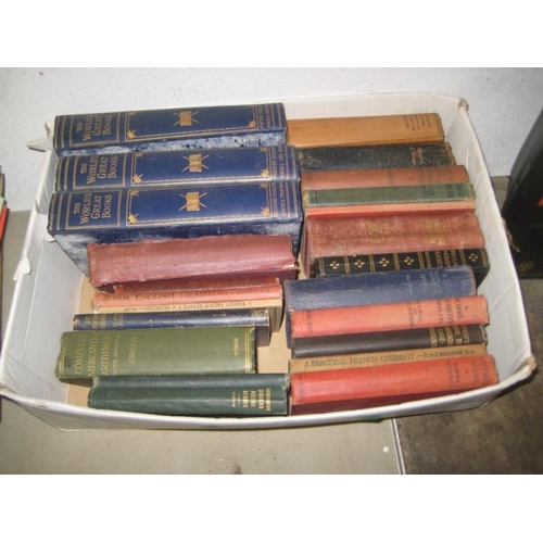 38 - The World Great Books (3 Vols) and others (1 Box)...