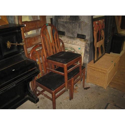 1054 - Three Georgian Style Hoop-Back Dining Chairs...