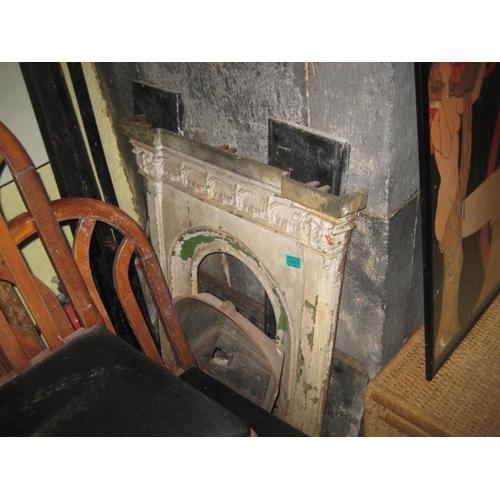 1055 - Victorian Cast Iron Bedroom Fireplace (No Mantel)...