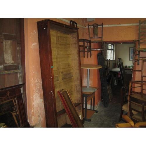 1064 - Victorian Pine Open Shelf Library Bookcase...