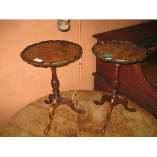 1070 - Two Walnut Wine Tables (One Leg Loose)...