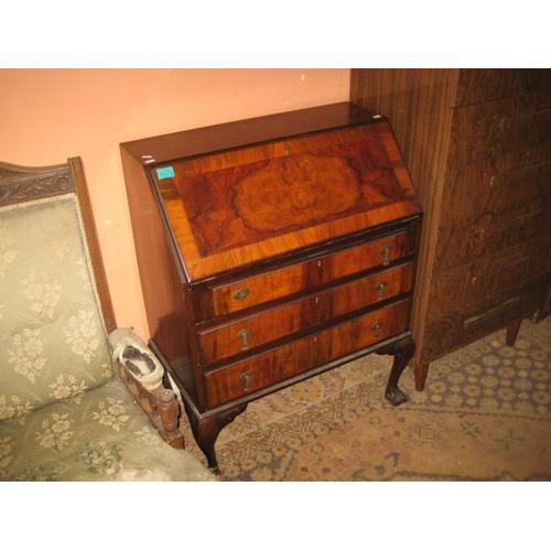 1073 - Vintage Walnut Writing Bureau (75cm Wide)...