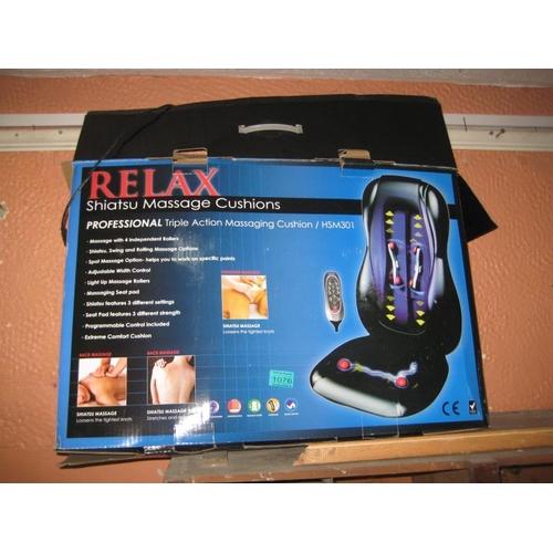 1076 - Relax Shiatsu Massage Cushions in Box...
