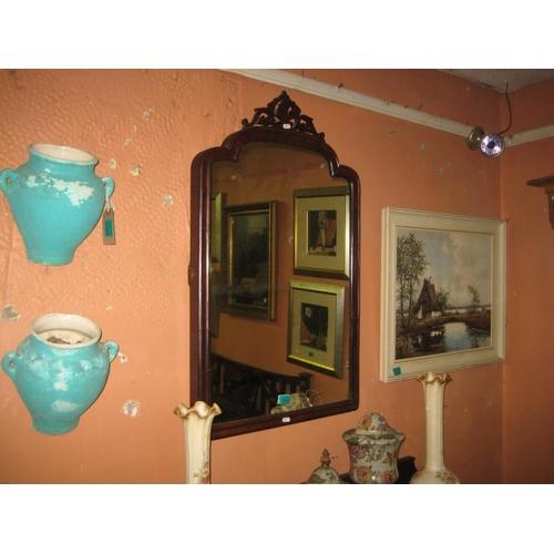 1086 - Three Victorian Mahogany Wall Mirrors (From Dressing Tables)...