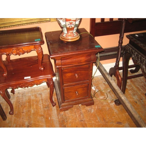 1090 - Pair of Hardwood Bedside Chests...