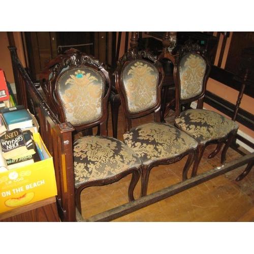 1099 - Set of 4 Walnut Salon Chairs...