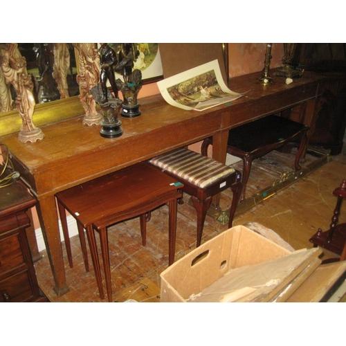 1106 - Late Victorian Oak Side Table (244cm Long x 46cm Deep x 77cm Tall)...