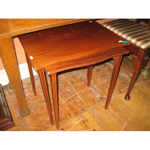 1107 - Nest of 2 Inlaid Mahogany Occasional Tables...