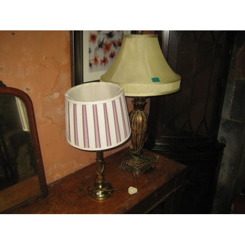 1110 - Two Decorative Table Lamps...