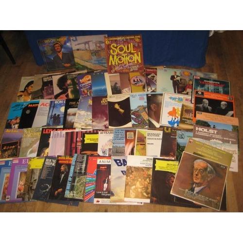 56 - Box Lot of Vinyl Albums -( approx 50)