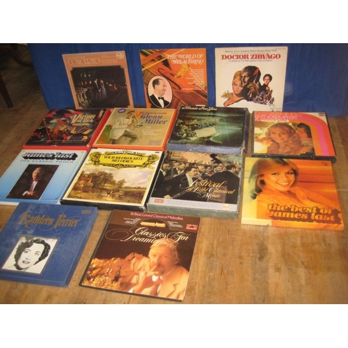 57 - 10 Box Set Vinyl Albums, Glenn Miller, James Last easy listening