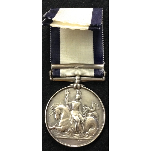 4 - <strong>Naval General Service 1793-1840, clasp Navarino.</strong><br /><br />To: Richard Robinson. <...