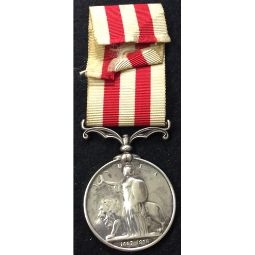 28 - <strong>Indian Mutiny 1857-59, no clasp.</strong> <br /><br />To: And McDonald. 1st Bn 8th Regt. <br...