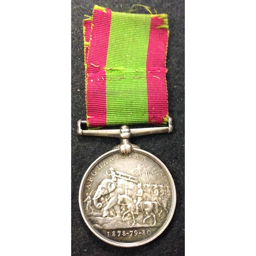 35 - <strong>Afghanistan Medal 1878=80.</strong> <br /><br />To: 40B/1109. Pte. G. Cox, 67th Foot. (Typic...