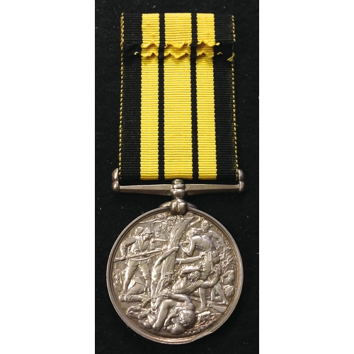 46 - <strong>Ashantee Medal 1873-74, no clasp.</strong> <br /><br />To: 1968, Pte. R. Woodcock, 2Bn. Rifl...