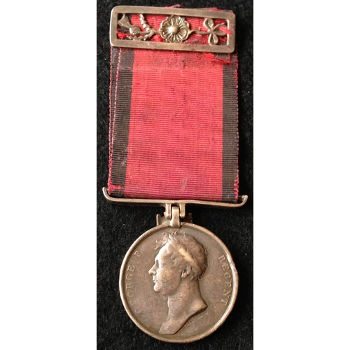 3 - <strong>Waterloo to a soldier of the 10th Hussars.<br /></strong><br />Waterloo Medal, 1815 - John R...